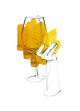 Vino -Leinwandbild