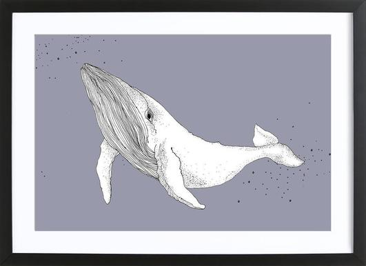 Whale -Bild mit Holzrahmen