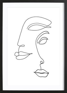 Two Faced Framed Print