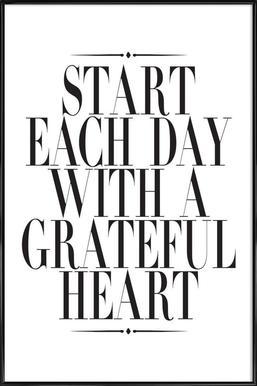 Start Each Day affiche encadrée