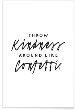 Throw Kindness Around - Premium poster