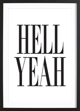 Hell Yeah -Bild mit Holzrahmen