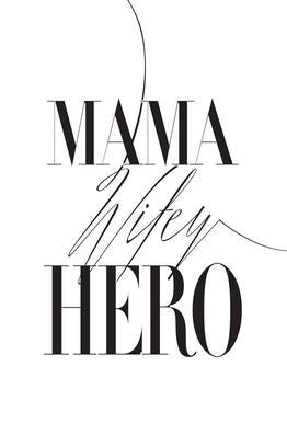 Mama Wifey Hero tableau en verre