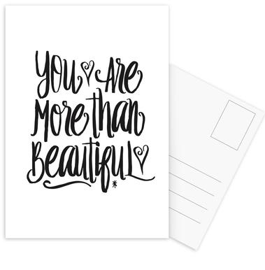 You Are More Than Beautiful Postcard Set
