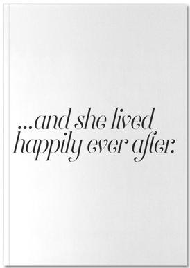 And She Lived Happily Notebook