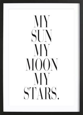 My Sun My Moon Framed Print