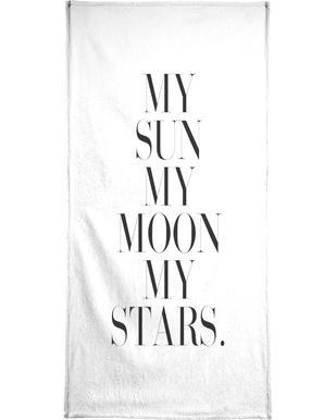My Sun My Moon Bath Towel