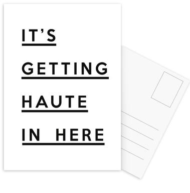 It's Getting Haute Postcard Set