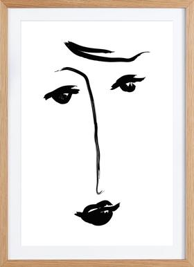 Why The Long Face - Poster in Wooden Frame