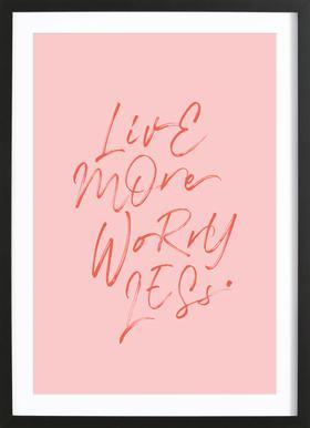 Live More ingelijste print