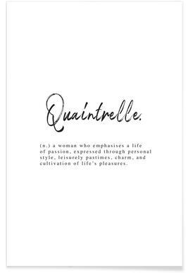Quaintrelle - Premium Poster
