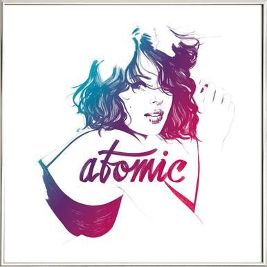 Atomic Poster in Aluminium Frame