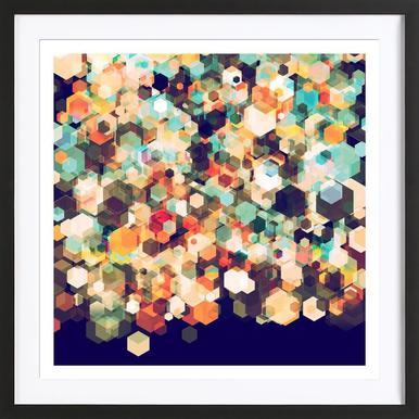 Cuben Cubic Spine Framed Print
