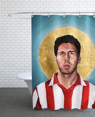 Football Icon - Diego Simeone Shower Curtain