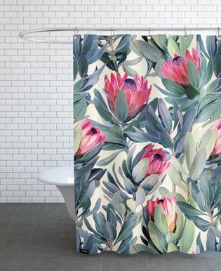 Painted Protea Pattern rideau de douche