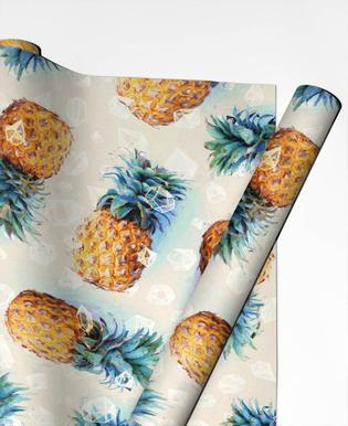 Pineapples + Crystals Gift Wrap