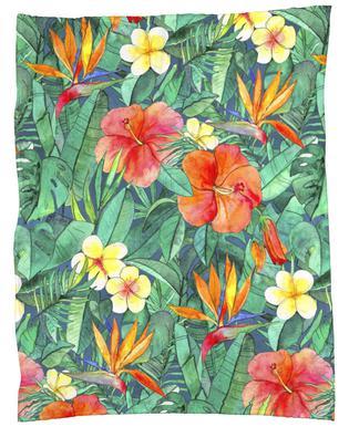 Classic Tropical Garden plaid