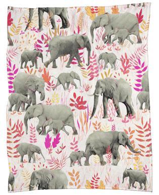 Sweet Elephants in Pink Orange