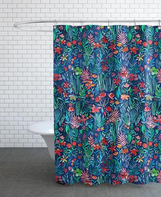 Tropical Ink Shower Curtain
