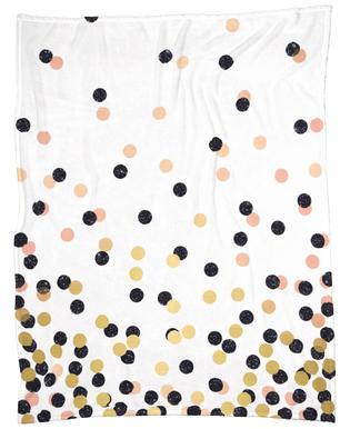Polka Dots Fleece Blanket