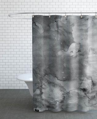 Dark Watercolor Shower Curtain