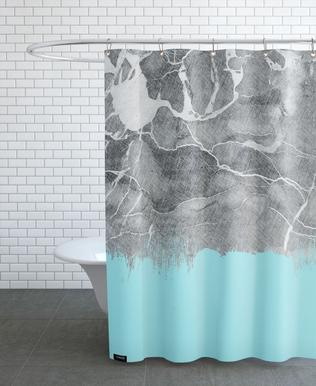 Crayon Marble and Sea Prints rideau de douche