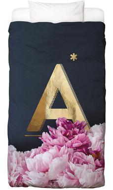 Flower Alphabet A Bed Linen