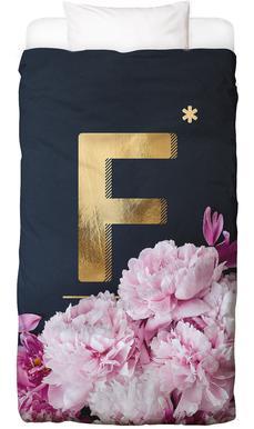 Flower Alphabet F Bed Linen