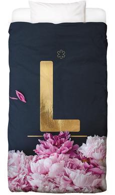 Flower Alphabet L Bed Linen
