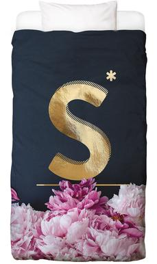 Flower Alphabet S Linge de lit