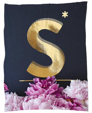 Flower Alphabet S plaid