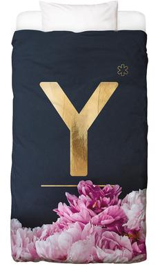 Flower Alphabet Y Bed Linen