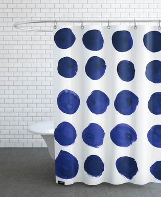 Blue Dots -Duschvorhang