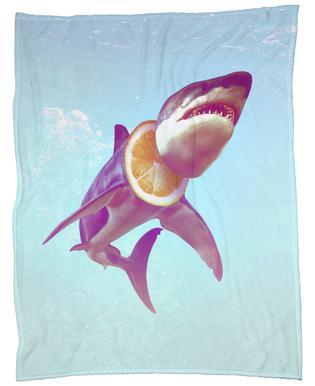 Lemon Shark Fleece Blanket