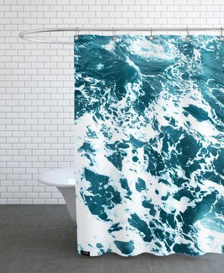 Ocean Blue rideau de douche