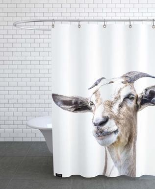 White Goat -Duschvorhang