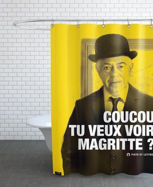Magritte rideau de douche