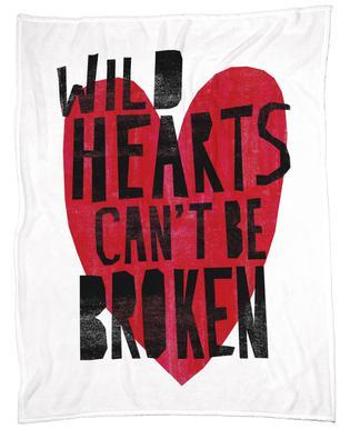 Wild Hearts Fleece Blanket