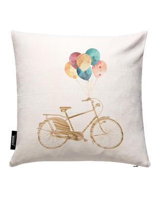 Bike & Balloons Cushion Cover