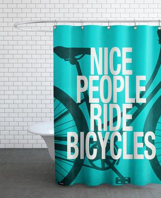 Nice people ride bicycles Shower Curtain