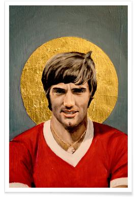 Football Icon - George Best affiche