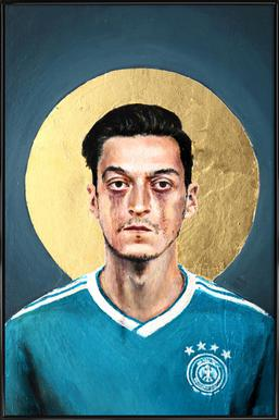 Football Icon - Mesut Özil Framed Poster