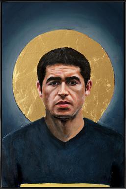 Football Icon - Juan Roman Riquelme Framed Poster