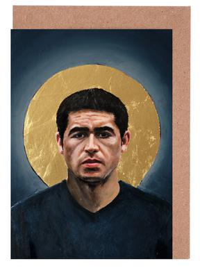 Football Icon - Juan Roman Riquelme Greeting Card Set