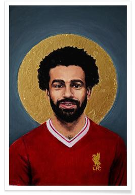Football Icon - Mohamed Salah Poster
