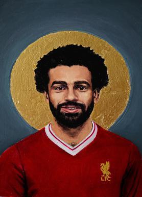 Football Icon - Mohamed Salah Canvas Print