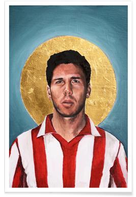 Football Icon - Diego Simeone Poster