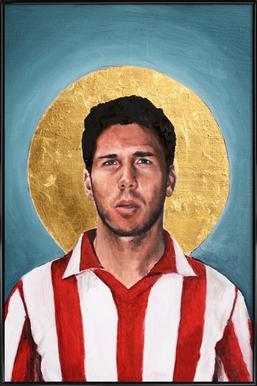 Football Icon - Diego Simeone Framed Poster