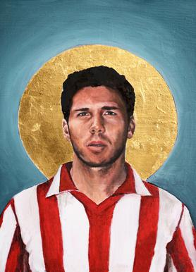 Football Icon - Diego Simeone Canvas Print