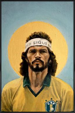 Football Icon - Sócrates Framed Poster